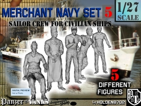 1-27 Merchant Navy Crew Set 5 in White Natural Versatile Plastic