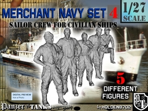1-27 Merchant Navy Crew Set 4 in White Natural Versatile Plastic
