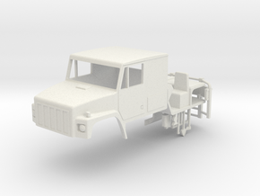 1/64 International SF 2670 Series Truck Cab with I in White Natural Versatile Plastic