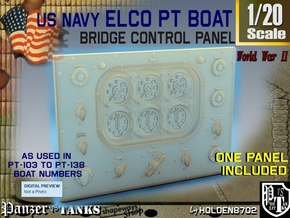 1-20 PT Boat Bridge Control Pannel Typ1 in Frosted Ultra Detail
