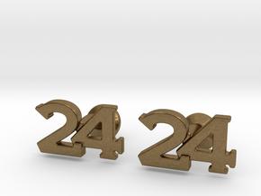 Monogram Cufflinks 24 in Natural Bronze