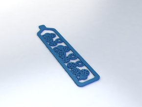 Bookmark, strong straight and Flexible in Blue Processed Versatile Plastic