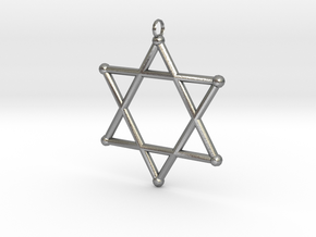 Star Of David 2 in Natural Silver