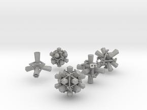 """""""Rattling Bones"""" Dice: Complete Set! in Aluminum"""