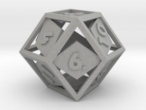 Open Rhombic d12 in Aluminum