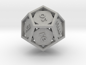 Lojban d12 - 12-sided die in Aluminum