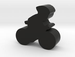 Game Piece, Cyclist in Black Natural Versatile Plastic