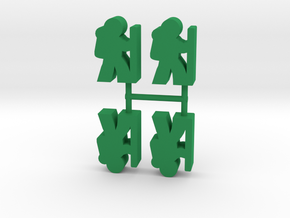 Game Piece, Hikers, 4-set in Green Processed Versatile Plastic