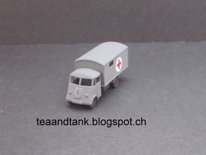 1/144 Renault AHN Ambulance  in White Natural Versatile Plastic