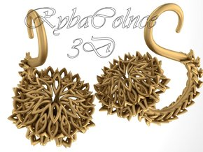 The Thistle Plugs / gauges/ 10g (2.5 mm) in Polished Bronze