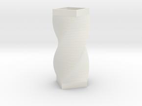 Vase quarter in White Natural Versatile Plastic