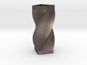 Vase quarter in Polished Bronzed Silver Steel