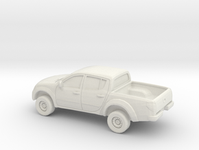 1/87 2006-15 Mitsubishi L 200 in White Natural Versatile Plastic