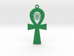TesserAnkh in Green Processed Versatile Plastic
