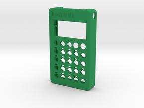 PO-12 case front in Green Processed Versatile Plastic