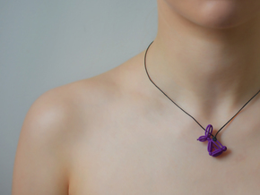 Balloon Rabbit Pendant in Purple Processed Versatile Plastic
