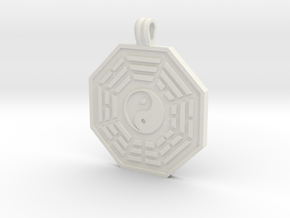 Bagua Symbol in White Natural Versatile Plastic