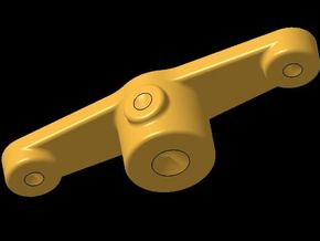 Steering Arm 180° in Polished Bronzed Silver Steel