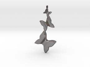 Butterfly Flight Pendant in Polished Nickel Steel
