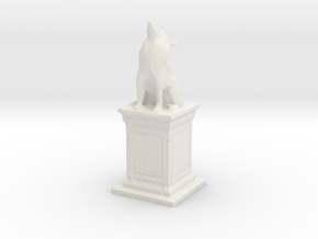 Wolf Statue in White Natural Versatile Plastic