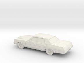 1/87 1977 Chrysler Newport Sedan in White Natural Versatile Plastic