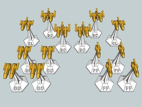 MicroFleet Leeran Fast Attack Group (14pcs) in Smooth Fine Detail Plastic