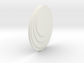 Necklace Piece in White Natural Versatile Plastic