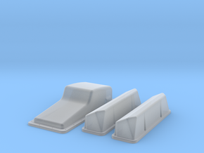 1/16 Ford 427 Side Oiler Stock Pan And Cover Kit in Smooth Fine Detail Plastic