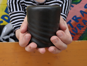 Fabric Cup in Matte Black Porcelain