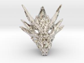 Umbral Dragon Pendant in Platinum