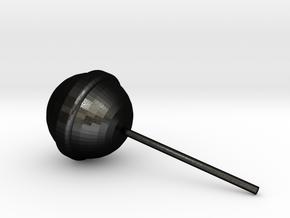 One Lollipop in Matte Black Steel