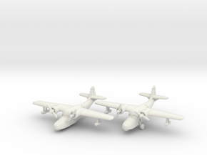 Grumman JRF-5 Goose (2 airplane set) 1/285 6mm in White Natural Versatile Plastic