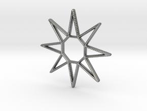Sun Pendant in Natural Silver
