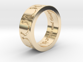 """""""Go Forth and Conquer"""" Ring  in 14K Gold: 5.25 / 49.625"""