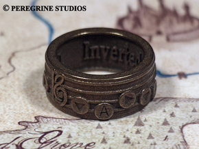 Ring - Inverted Song of Time (Size 13) in Stainless Steel