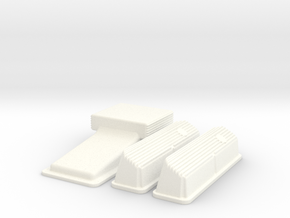 1/8 Ford 427 Side Oiler Finned Pan And Cover Kit in White Strong & Flexible Polished