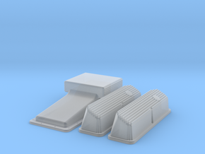 1/32 Ford 427 Side Oiler Finned Pan And Cover Kit in Smoothest Fine Detail Plastic