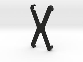 iPhone4/4S HiLO X Grip in Black Natural Versatile Plastic