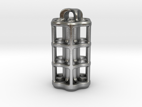 Tritium Lantern 5D (3.5x25mm Vials) in Natural Silver