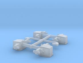 GN 15 Achslager und Schlemper für GN 15 DIN Lore in Smoothest Fine Detail Plastic