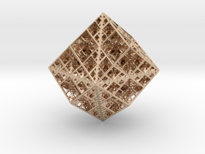 Koch Rhombododecahedron in 14k Rose Gold