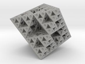 Sierpinski Octahedron Small in Aluminum