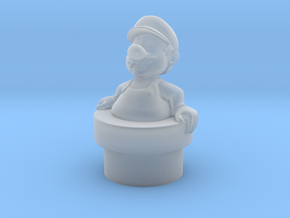 Fat Mario in Smooth Fine Detail Plastic