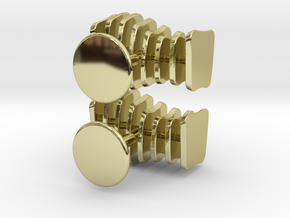 Cufflinks Free Form in 18k Gold Plated Brass