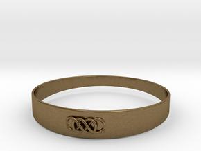 Double Infinity Bracelet ver.1 51mm inside in Natural Bronze