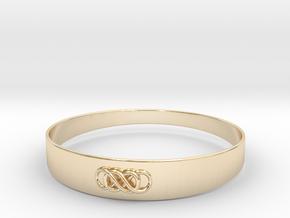 Double Infinity Bracelet ver.1 51mm inside in 14K Yellow Gold