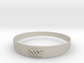 Double Infinity Bracelet ver.1 51mm inside in Natural Sandstone