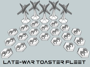 MicroFleet Late-War Toaster Fleet in Smooth Fine Detail Plastic