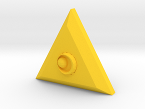 Triforce Of Courage in Yellow Processed Versatile Plastic