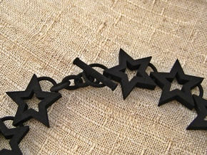 Star Necklace in Black Strong & Flexible